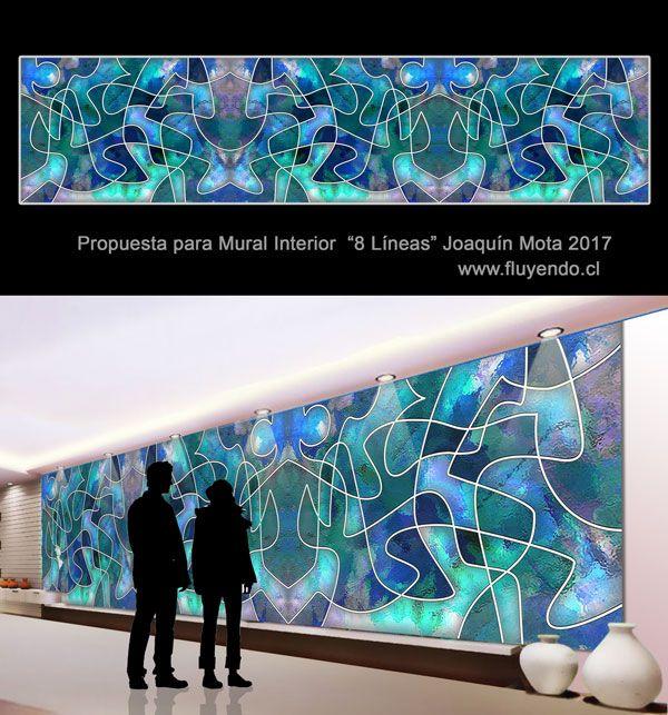 "Propuesta mural Joaquín Mota ""8 Líneas"" 2017"