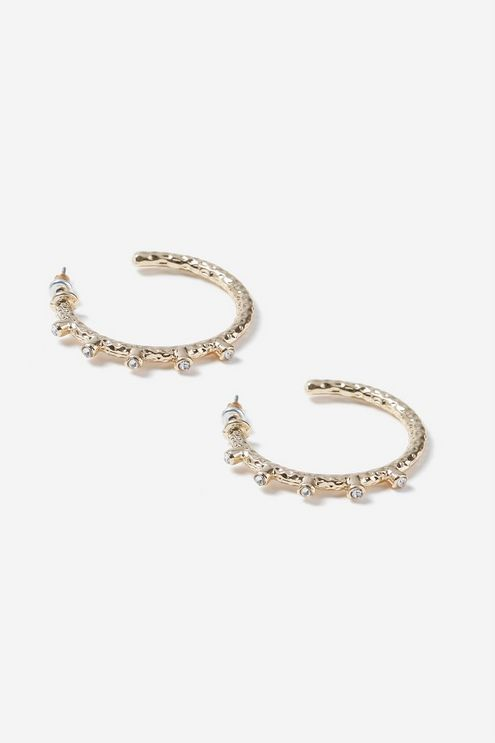 a54e4fc03f5b1 Rhinestone Spike Hoop Earrings in 2019 | Products | Earrings, Hoop ...