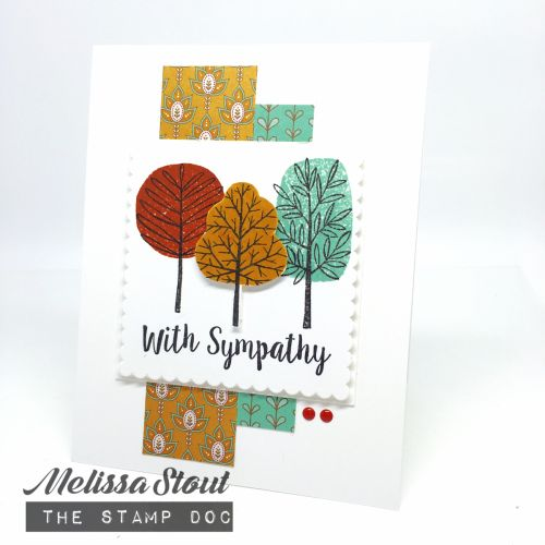 Sympathy card made with Stampin' UP! Totally Trees & Better Together stamp…