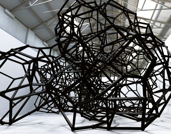 Antony Gormley: Firmament IV - I love this sculpture! The material used to form these geometric shapes is fantastic! The lines form a nice mass that isn't there.