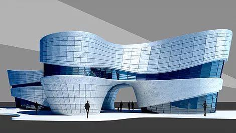 стиль бионика модель 3d max, архитектурная визуализация