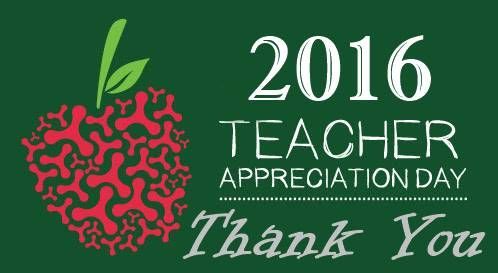 "Today is National Teacher Appreciation Day! It's time to say ""Thank You"" to the special teachers that you know and let them know that they are appreciated for all they do! http://www.nationaldaycalendar.com/national-teacher-appreciation-day-tuesday-of-the-first-full-week-in-may/"