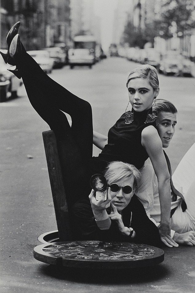 Warhol and Edie Sedgwick by Helmut Newton - oh to be a fly on the wall for that photoshoot.