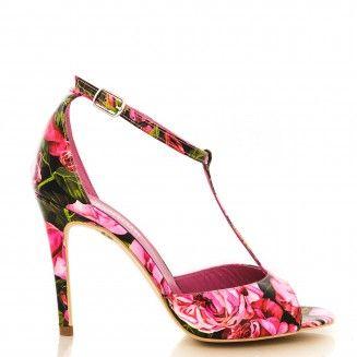 sandale dama din piele naturala 1315 bujori
