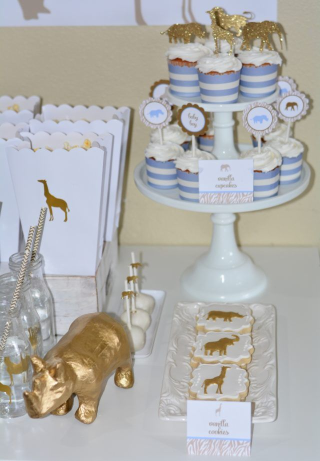 Golden Safari Baby Shower –