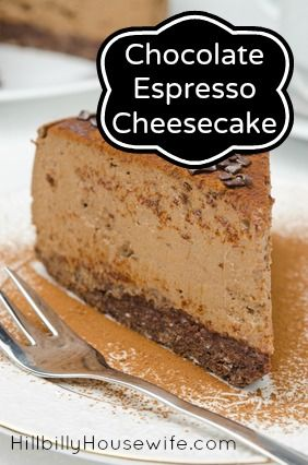 Espresso Cheesecake - rich and creamy and easy to make.