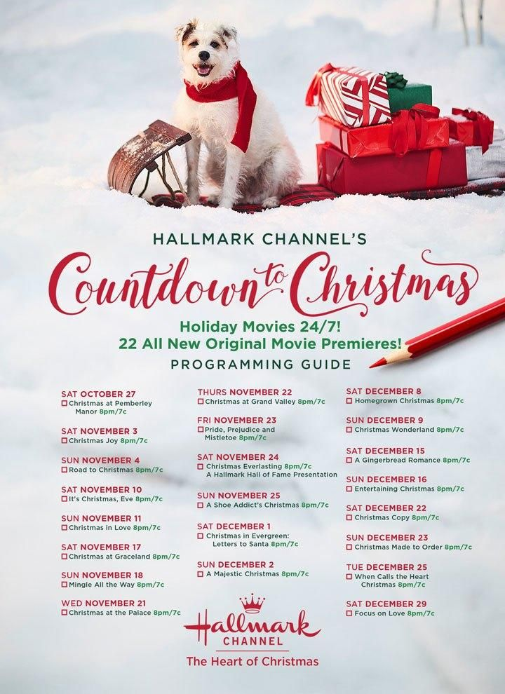 Mark Your Calendars Hallmark S 2020 Christmas Movie Schedule Is Here Hallmark Channel Christmas Movies Hallmark Christmas Movies Christmas Movies