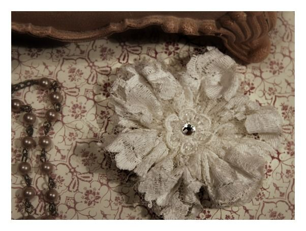Lace Flower From Old Wedding Dress