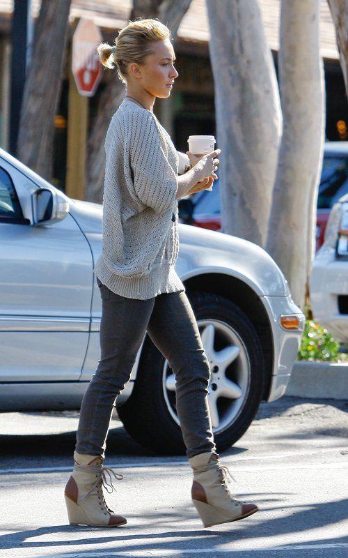 """Hayden Panettiere in Coconuts By Matisse """"Davis"""" Wedge Bootie"""
