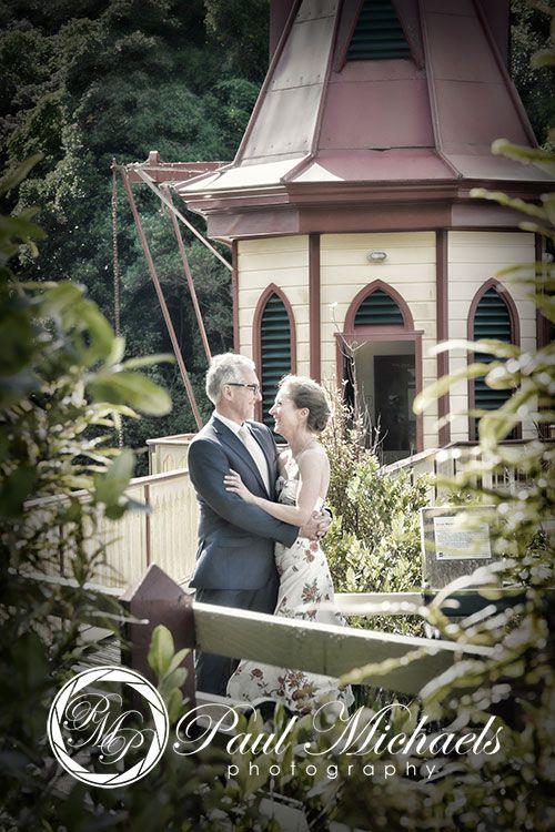 Bride and groom at Zealandia.