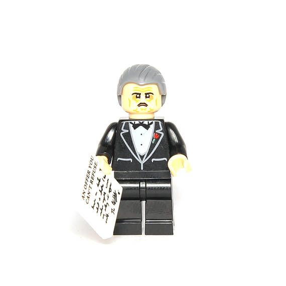 New in Package Godfather Don Corleone Custom Lego Figure