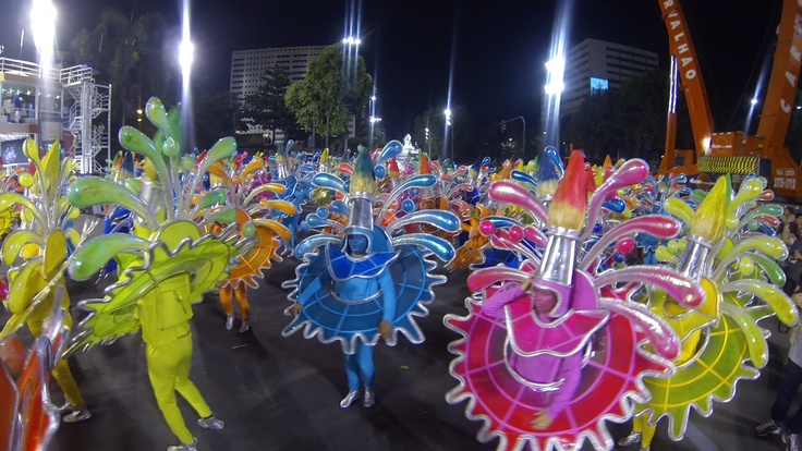 Bright, colorful and exaggerated Rio Carnival costumes 2013.