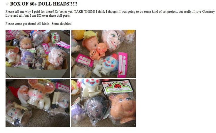 These bits n' pieces. | 20 Downright Bizarre Free Things You Can Find On Craigslist