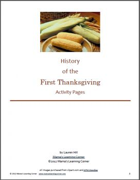 History of Thanksgiving: Printables and Unit Study Resources - Free!