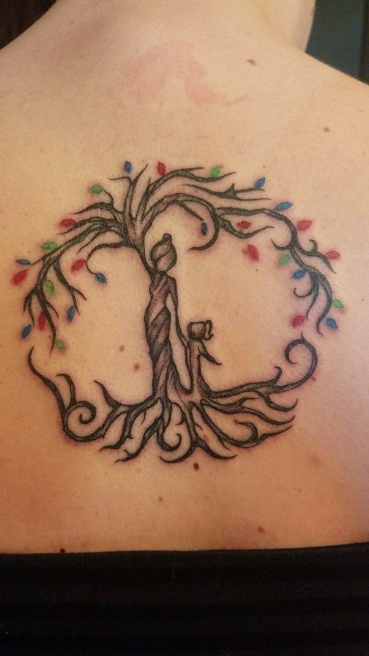 Mother daughter tattoos design ideas 33