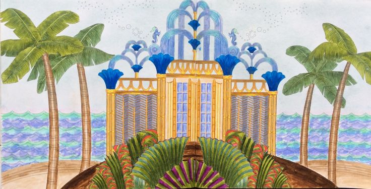 From Dream Cities by Alice Chadwick. An Enchanted World. Coloured by Prue Jack