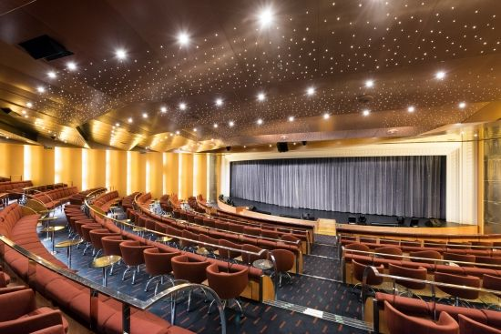 Fenice Theatre, MSC Armonia.  Create a magical cruise experience that you'll treasure forever. #fenicetheatre #entertainmentatsea #theatre