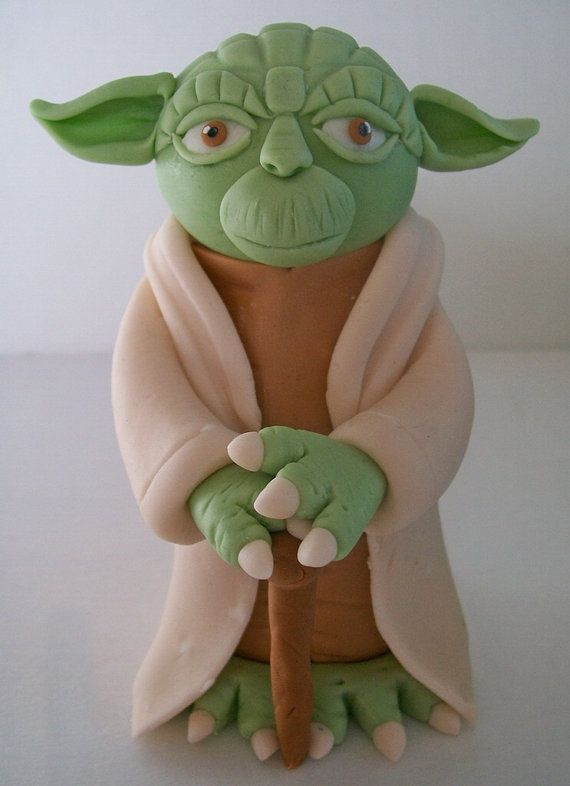 Do or do not. There is no try Famous words from Master Yoda! For all you Star Wars lovers out there!    This listing is for 1, 5 inch Yoda topper!    Hes made completely out of fondant, except for the bamboo skewer support in the middle and the cane. Nut free, gluten free and entirely safe to eat (aside from the skewer)! Although this mouse is holding a baseball bat and ball, I can customize so that he is holding your choice of sporting utensil, football, soccer ball, golf ball and driver…