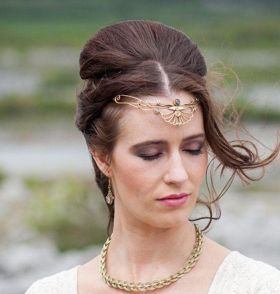 tiare bandeau de mariage diadme de mariage coiffure celtique desse diadme - 45 Ans De Mariage Pierre Precieuse