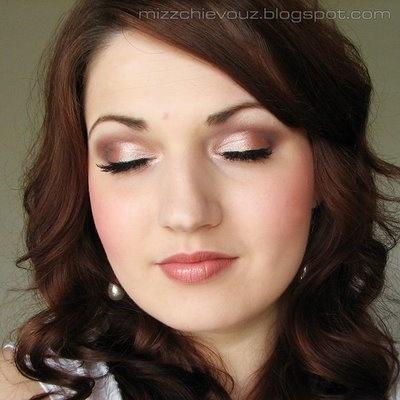 blush pink wedding makeup