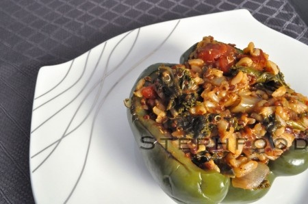 Cajun Stuffed Peppers #stephfood Finally found some smoked andouille!