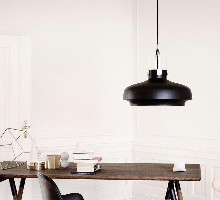 suspension copenhagen pendant sc8 noir mat 60cm h53cm andtradition lampe luminaire le. Black Bedroom Furniture Sets. Home Design Ideas