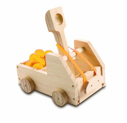 Kids' Wood Craft Kits - Red Tool Box Truck Catapult >>> Details can be found by clicking on the image.