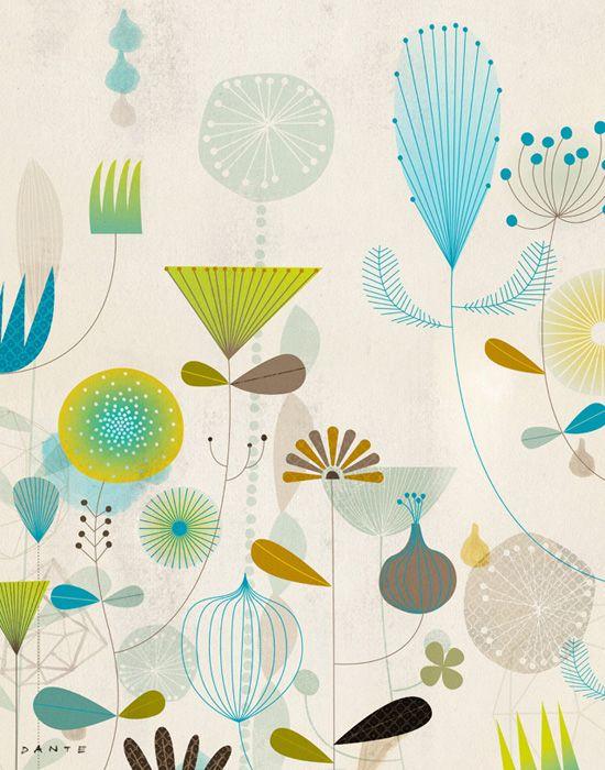 Dante TerzigniFloral Pattern Design, Floral Prints, Floral Design, Colors, Illustration, Art, Graphics Design, Dante Terzigni, Flower Pattern