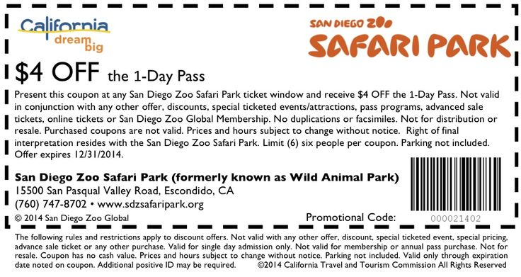 San diego zoo coupons discounts