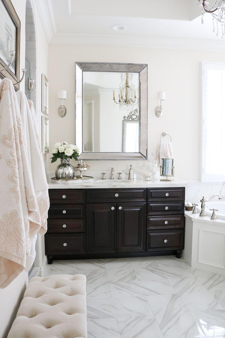 Classy bathroom decor - Elegant Master Bathroom Remodel Her Sink