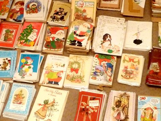 Finding 860+ vintage Christmas cards ... and one that made me cry. [By Julie Kirk]
