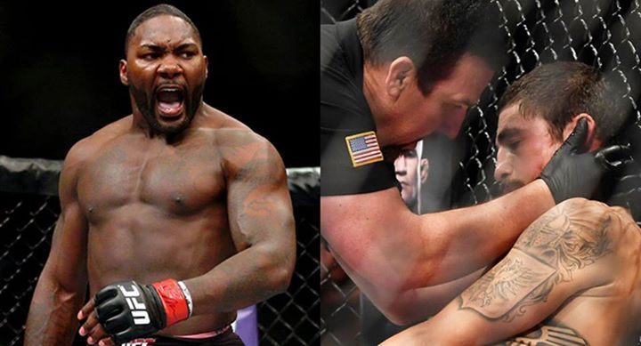 """Anthony Johnson: """"Watched some of the fights last night and I'll tell you this. Know when to hang em up! If you've already been knocked out in about your last 5-6 fights isn't that your body saying 'I've had enough'? I get that it's a macho, I have bigger balls than you sport but man some of these dudes are going to forget their name by the time they're 45. Good luck with that.""""  Anthony Johnson did not say who he was talking about. #mma #ufc"""