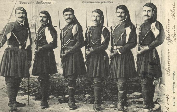 Ottoman Turkey Greece Samos Gendarmerie Princière Armed Police 1904 Stamp   eBay