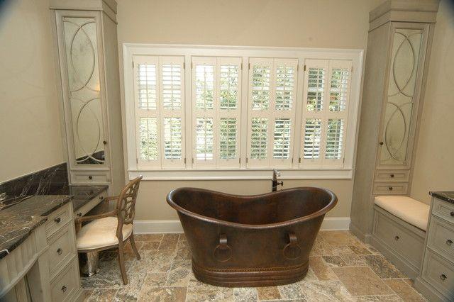 Comfy Vintage High End Bathroom Accessories Ideas With Classic Bathtub And Grey Wood Vanity Cabinet Set : Choosing Most Popular High End Bat...