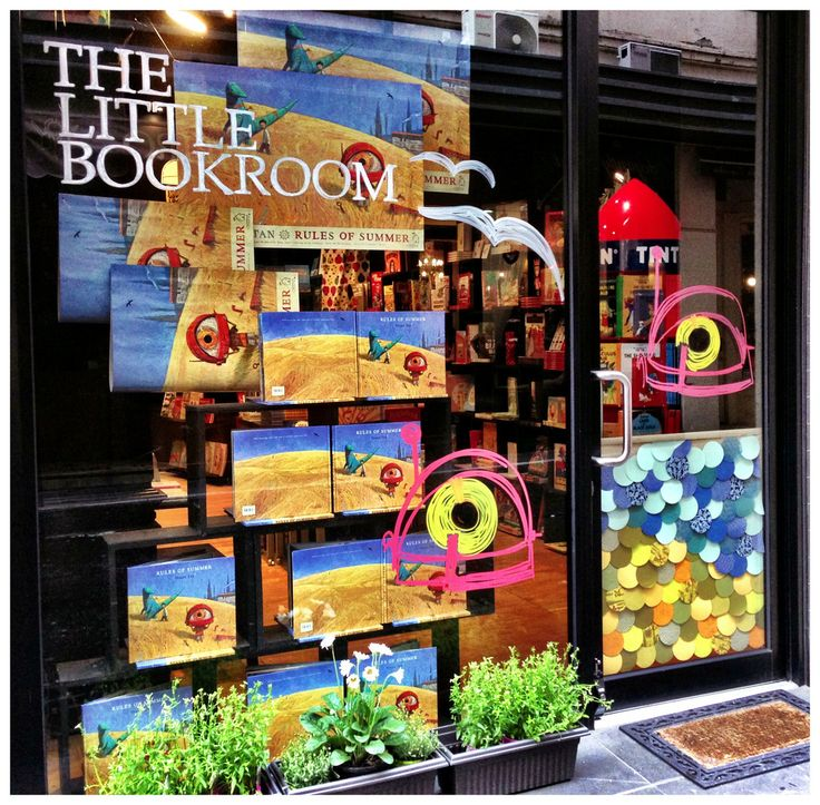 The Little Bookroom window celebrating 'Rules of Summer' by Shaun Tan. Oh, how we love it!!!