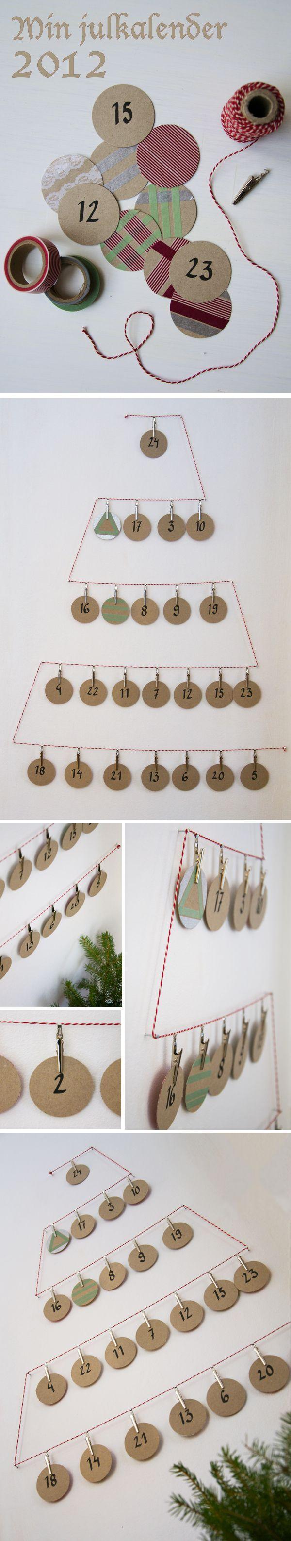 DIY: advent calendar/ Kreativ inredning - inspirerande inredningsblogg