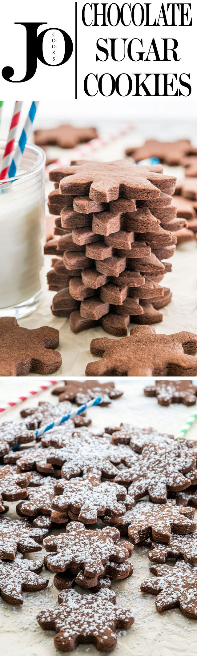 These Chocolate Sugar Cookies are so simple to make and melt in your mouth delicious! They go perfect with a good cup of coffee or tea and are a great holiday cookie!