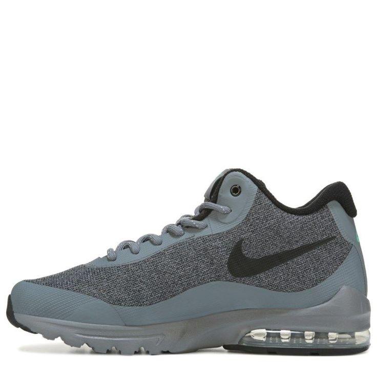 Nike Men's Air Max Invigor Mid Top Sneaker Boots (Grey/Black)