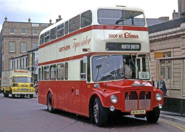 "Re-registered MCN 30K ""The Tynesider"", re-bodied 1958 Leyland PD3/4(NNL49)"