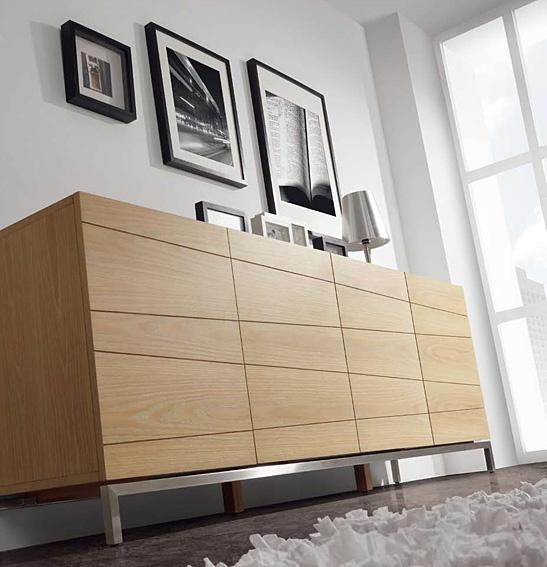 Muebles quadratura arquitectos aparador 4 puertas bude for Puertas madera natural