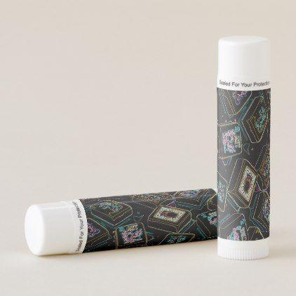 Mah Jongg Black Joker Lip Balm - black gifts unique cool diy customize personalize