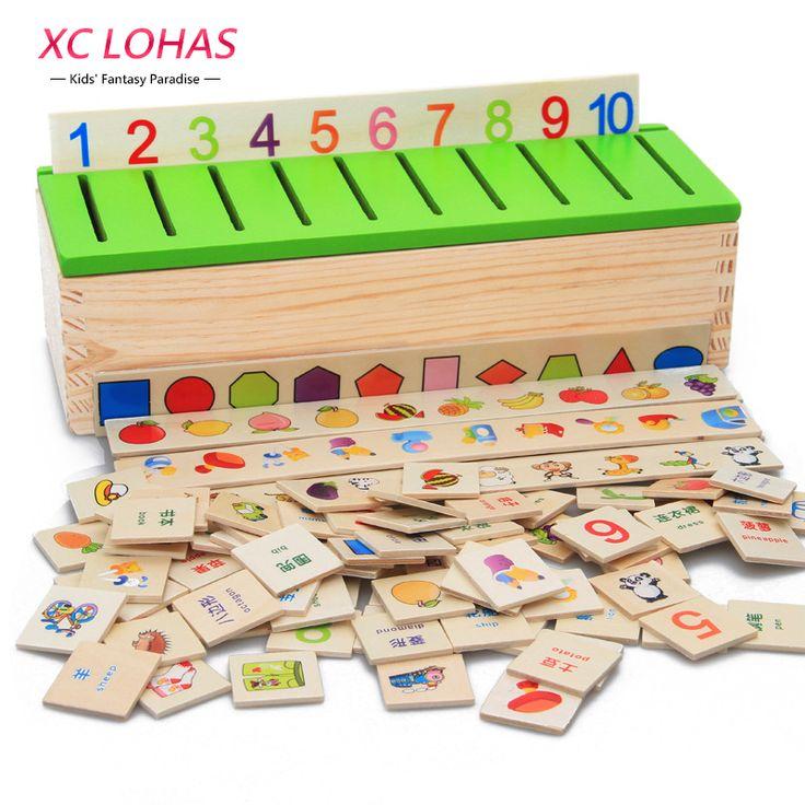 몬테소리 교육 나무 게임 인식 장난감 아기 초기 학습 분류 상자 장난감 수학 장난감