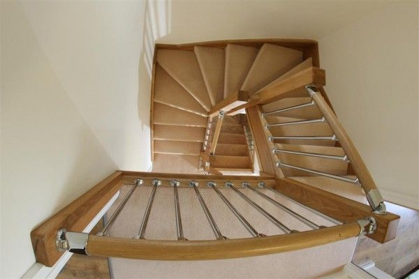 Furniture,Luxurious Space Saver Circular Timber Staircases Design Ideas By StairBox,Modest Space Saver Staircase Design Inspirations