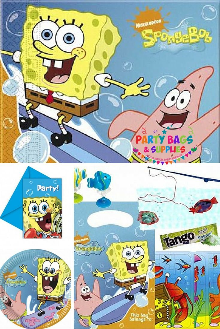 Join Spongebob Squarepants and his friends in their wonderful underwater world.  Loads of fabulous official Spongebob party bags and supplies to choose from, including filled party bags, tableware, decorations, balloons, fillers and toys and much, much more, all at great prices, perfect for your boys party! Are you ready, kids? Click here to find more items in our Spongebob Squarepants range - https://www.partybagsandsupplies.co.uk/themes/spongebob-squarepants