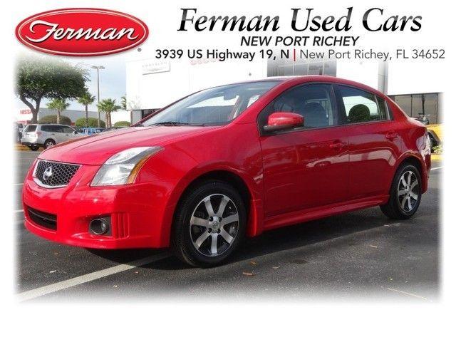 2012 Nissan Sentra 2.0 SR   Red Http://www.fermannissanofnewportrichey.com.  Used VehiclesPort RicheyNissan Sentra