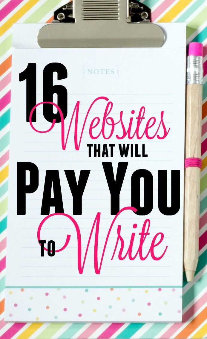 Websites that pays you to write