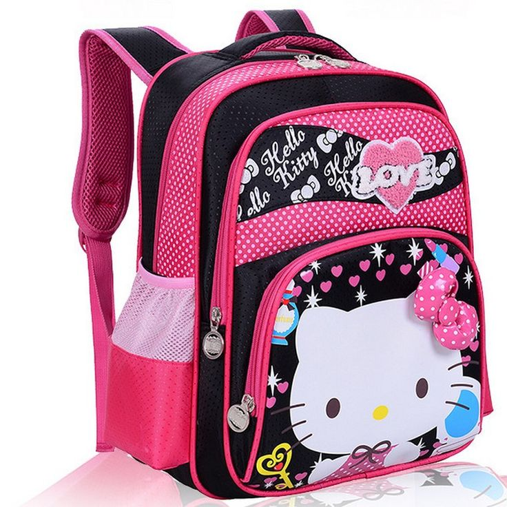 Impertex Fabric School Backpack with Hello Kitty PVC Printing