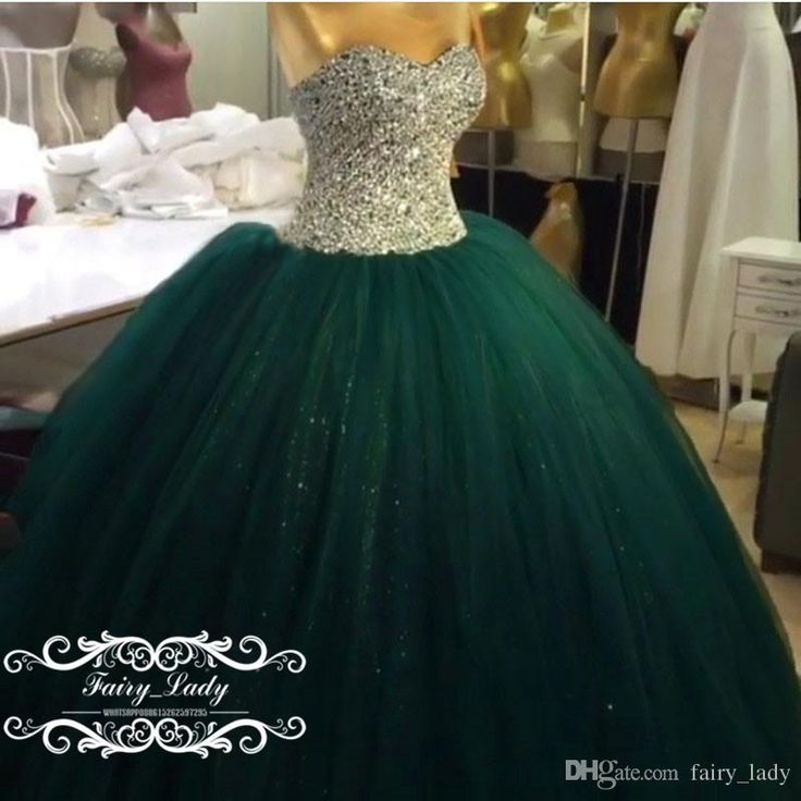 Sweet 15 Prom Quinceanera Dresses For Girls Shiny Silver Sequins Major Beading Long Puffy Ball Gown Green Tulle Vestidos De 15 Party 2017 Gowns Dresses Inexpensive Dresses From Fairy_lady, $181.97| Dhgate.Com