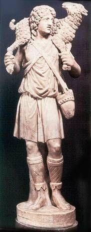 O Bom Pastor, paleocristão, século IV.