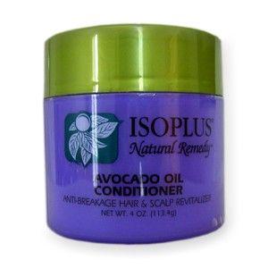 Huile d'Avocat Conditioner - Isoplus Natural Remedy. Isoplus Remède Naturel - Revitalisant à l'huile d'avocat  Lutte contre la casse des cheveux, revitalise le cuir chevelu. Isoplus huile d'avocat Hair & Scalp Revitaliseur est un conditionneur naturel qui aide à stimuler le cuir chevelu et les cheveux, la pousse de cheveux sains et dynamiques. L'huile de carotte a été ajoutée comme un élément clé pour aider à renforcer les cheveux.